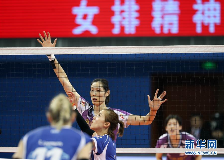 (体育)(7)排球——女排超级联赛:天津渤海队夺冠