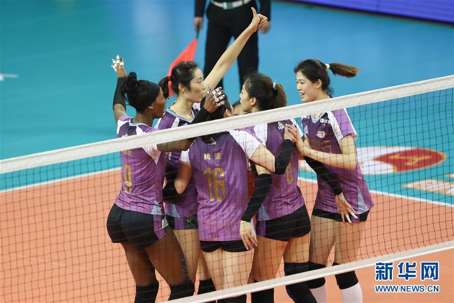 (体育)(3)排球——女排超级联赛:天津渤海队夺冠